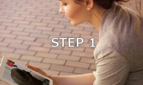 オンライン受講の流れステップ1